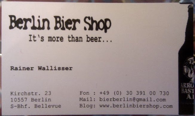 Science for thirsty people german real ales luckily we recently tracked down the berlin bier shop run by rainer wallisser on kirchstrasse near bellevue station business card to right reheart Gallery