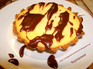 Пирожные из печенья и творожного суфле