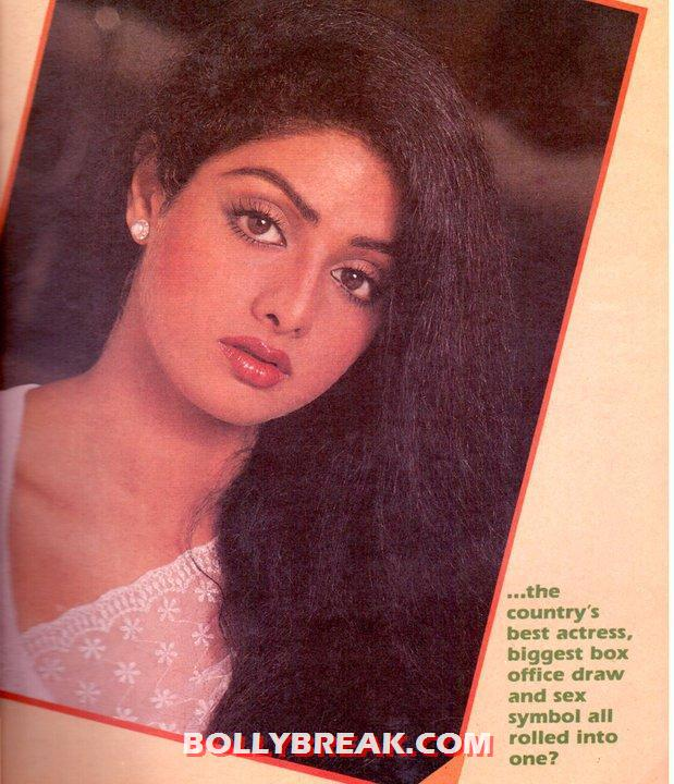 Sridevi looking beautiful, with her dark long hair on one side and red hot lips looking juicy. she had amazing eyes.  - Sridevi Young Days Wallpaper