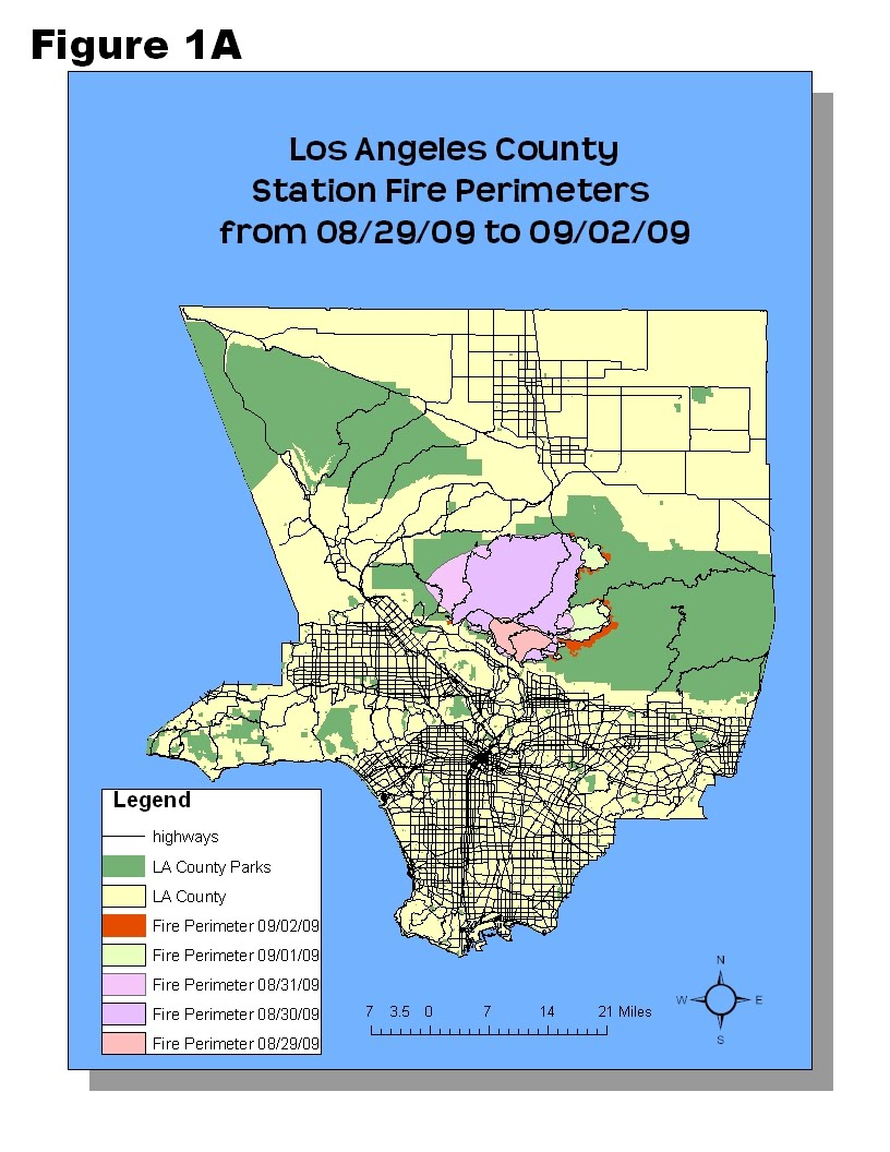 lab 8 mapping the station fire in arcgis