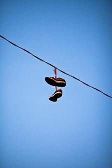 Harfield Village  Shoes hanging from power lines