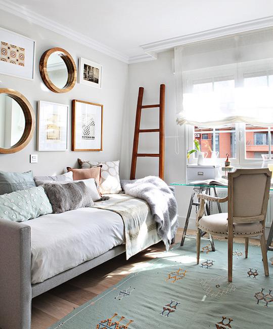 Decoraci n f cil decorar con espejos redondos - Espejos de salon ...
