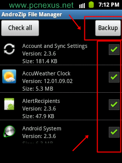 backup android apps on sdcard lg g pro 2