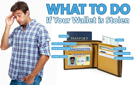 What to do when you know your wallet is stolen?