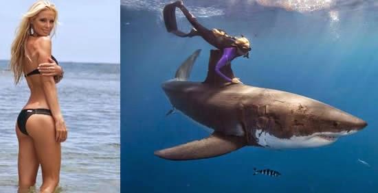 Conheça a modelo Ocean Ramsey instrutora de mergulho e amiga dos tubarões