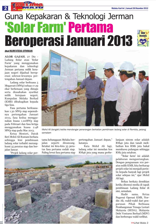Solar Farm Malaysia Visits Rembia Solar Farm