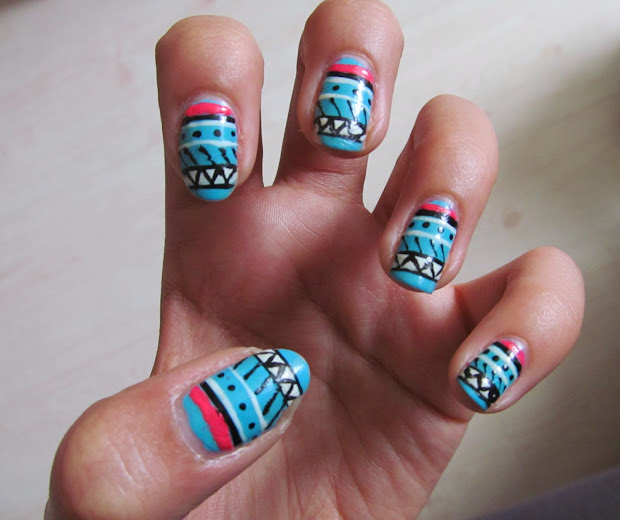gold bangle aztec nails charlie
