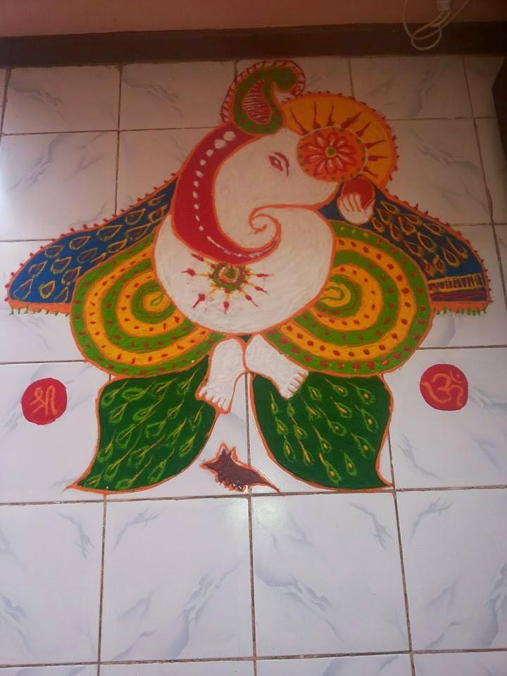 Ganesha Rangoli 33