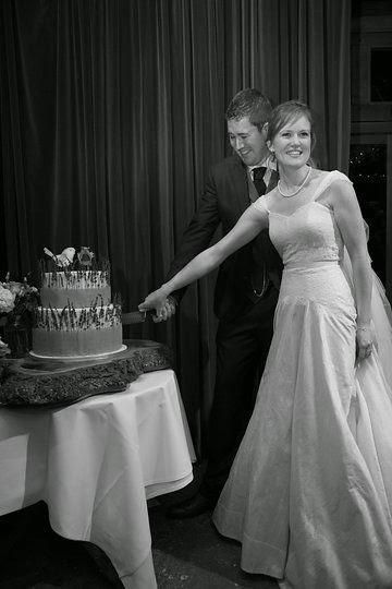 Silk 1950s wedding gown
