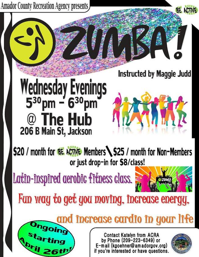 Zumba! Wed evenings