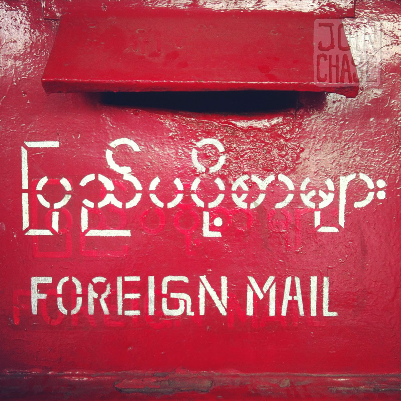 A foreign mailbox in Yangon, Myanmar