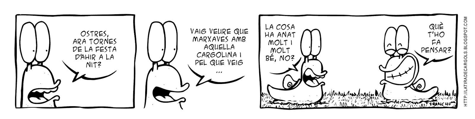 Tira comica 124 del webcomic Cargols del dibuixant Franchu