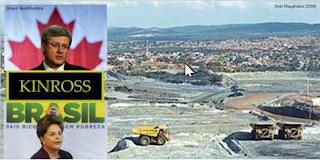 Mina de arsênio em Paracatu, primeiro-ministro canadense John Harper, Kinross Gold Corporation e presidente brasileira Dilma Roussef: apoio governamental ao envenenamento em massa. Fotos: Beto Magalhães, Reuters