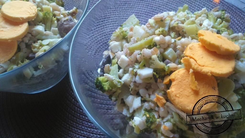 Sałatka z pomysłem i winem sylwestrowa lightowa foodbloger blog kulinarny mechanik w kuchni