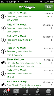 Starbucks Mobile App - Tap once on Pick of The Week