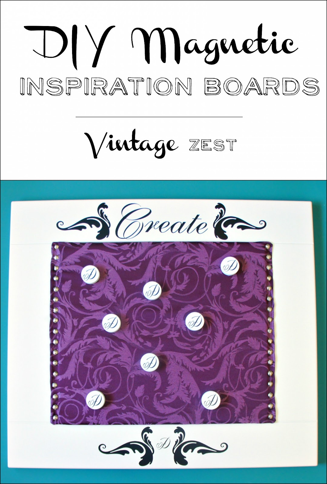 DIY Magnetic Inspiration Boards (on a Budget) on Diane's Vintage Zest!  #organization #tutorial