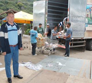Secretário de Meio Ambiente e Defesa Civil, Coronel Roberto Silva: controle das doações para prestar contas dos alimentos arrecadados