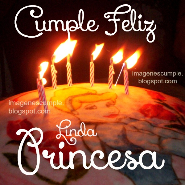 Imágenes gratis de feliz cumpleaños princesa, postales para una niña, hija . tarjeta bonita de cumple con dibujo de princesa.