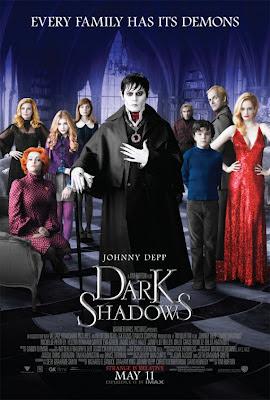 Dark Shadows, Tim Burton, Johnny Depp, poster, pic