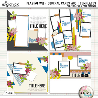 Playing With Journal Cards #05 by Akizo Designs