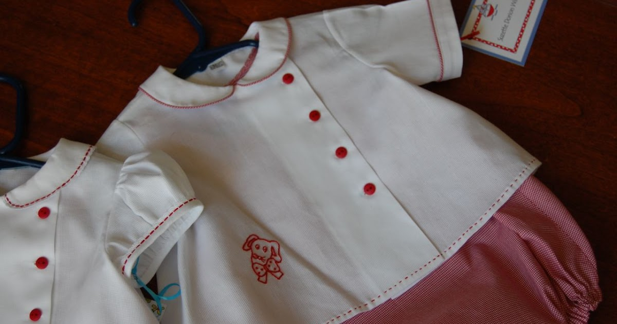 The Old Fashioned Baby Sewing Room Redwork Embroidey on