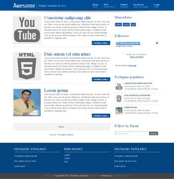 Awesome Blogger Template. minimalist design blogger template. blogspot template free