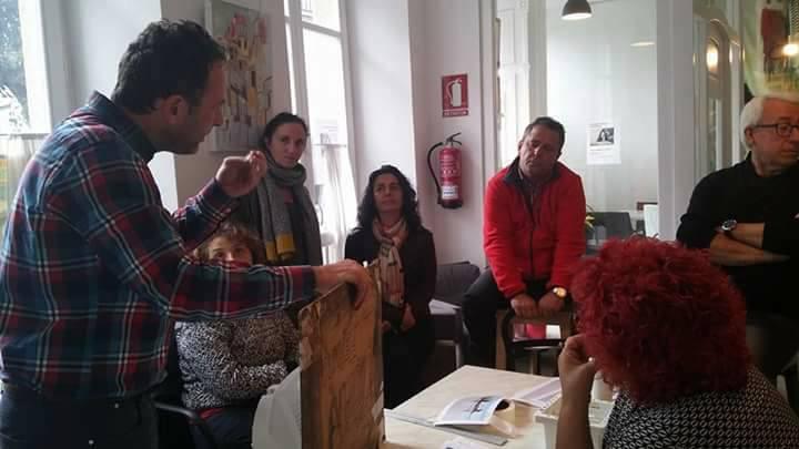 Demostración de acuarelas en Ribadeo. Lugo. Galeria 56.