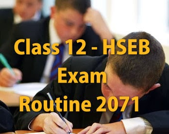 HSEB Exam Routine of All Faculties
