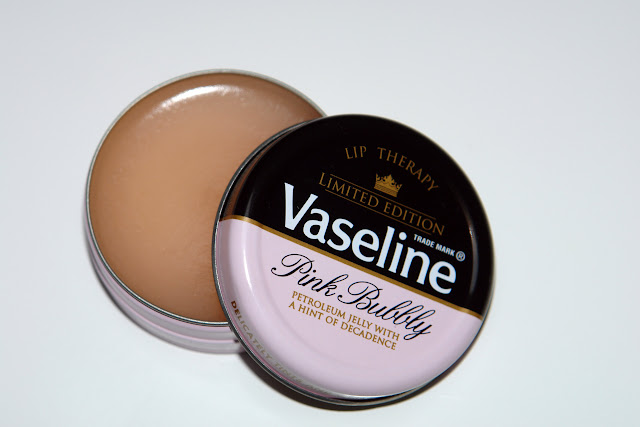 beauty, lip balm, pink, review, Vaseline, Pink Bubbly, Limited Edition
