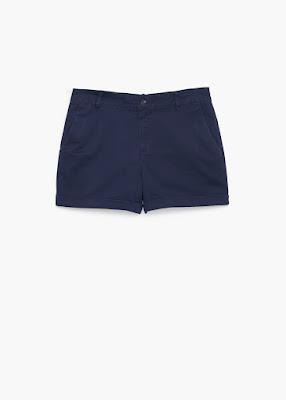 Mango Cotton Blend Shorts