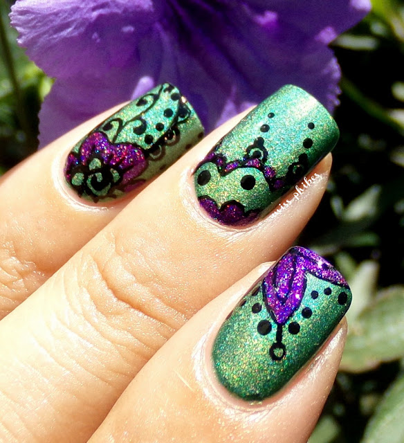 Mehndi Indian nail art