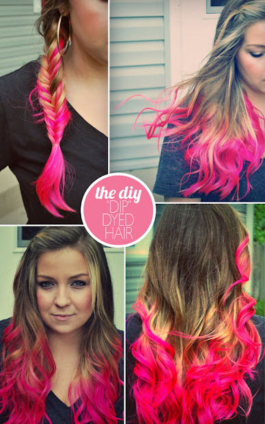"diy ""dip"" dyed hair updated"