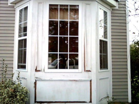 Bay Window Wood Trim Replacement With Azek ~ how to home improvement