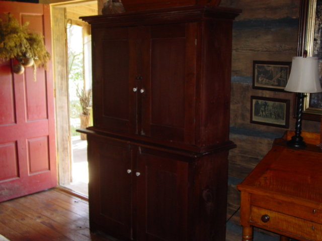This stepback cupboard was at a shop just south of Birmingham. The lady was  a primitive lover and her booth showed it. - I've Been Busy Buying And Selling...