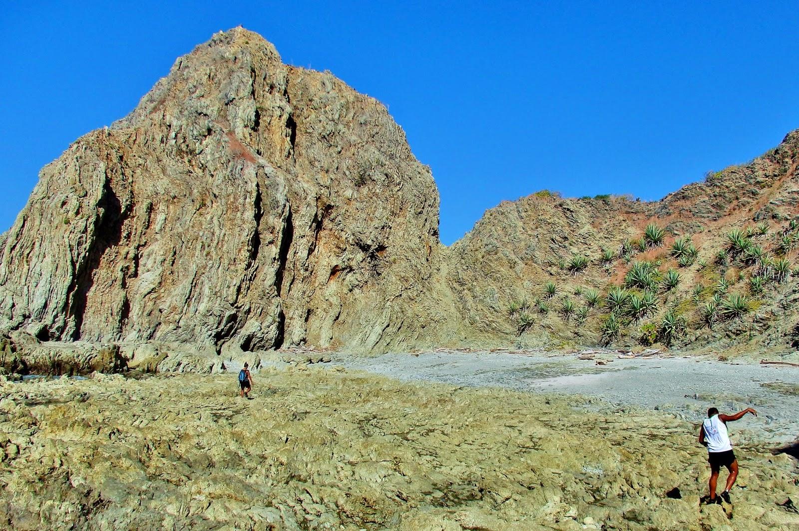Ruta para ir al Hueco del Diablo. Playa Garza. Costa Rica.