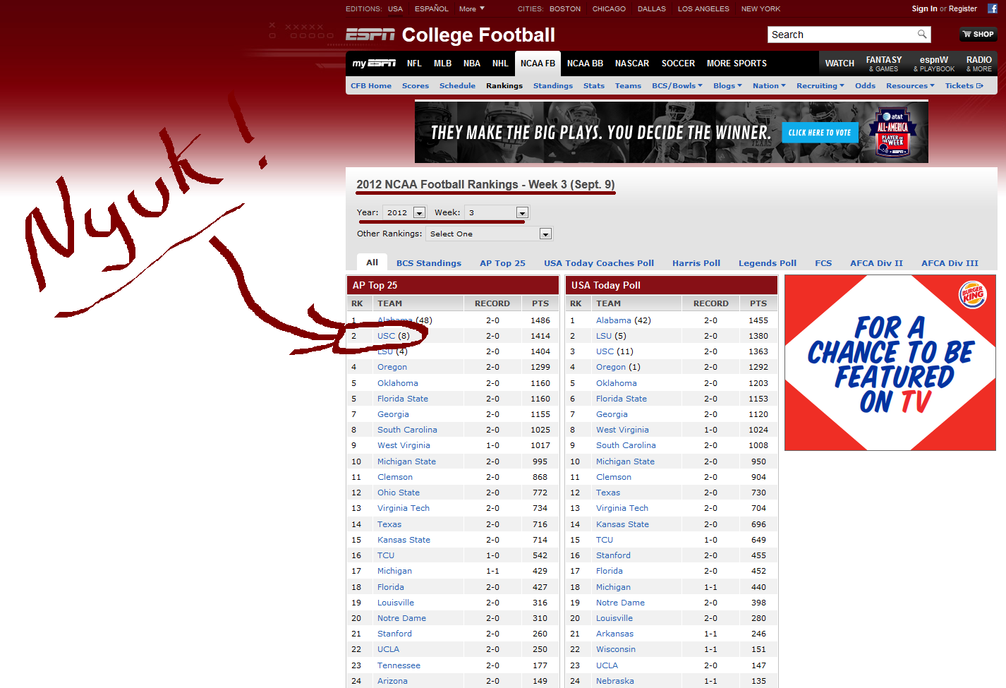 espn schedule college football ncaa fb polls