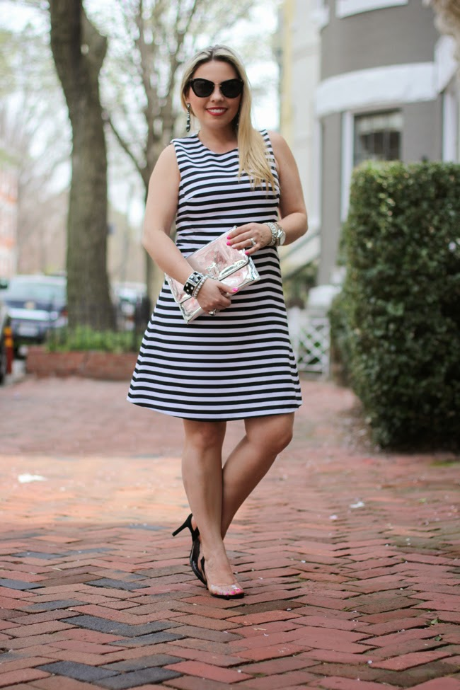 striped dress from express