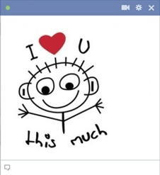 i love you this much facebook emoticon Emoticon Facebook Terbaru