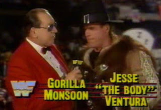 WWF / WWE SURVIVOR SERIES 1989 - Gorilla Monsoon & Jesse 'The Body' Ventura