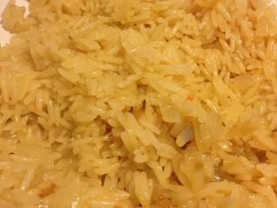 freshly cooked pilau rice
