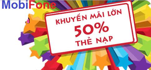 Khuyến mại 50% nạp thẻ Mobifone tháng 11