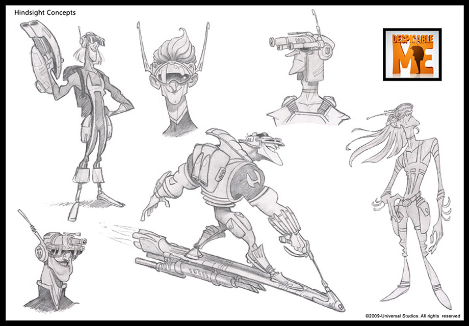 Character Design Library : Living lines library despicable me character design