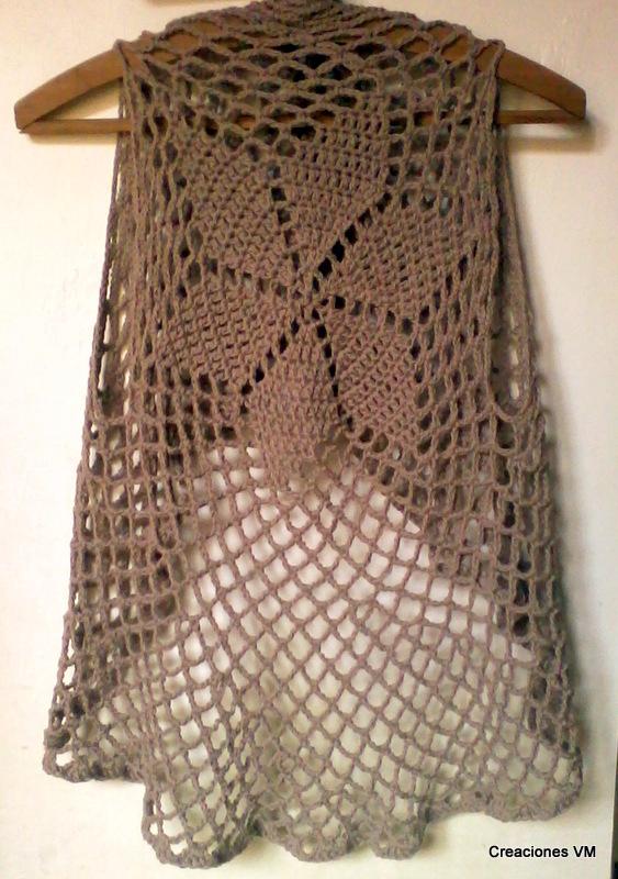 Chalecos calados tejidos a crochet - Imagui
