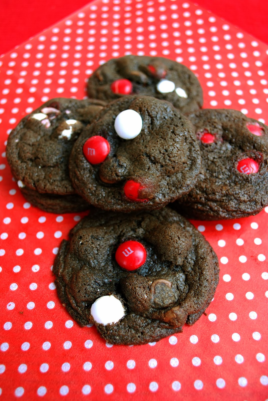 Bake.Frost.Repeat: Mocha White Chocolate Peppermint M&M Cookies