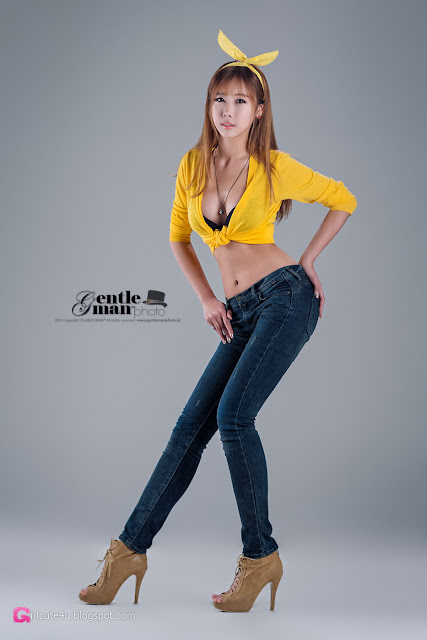 2 Cheon Bo Young in Yellow  - very cute asian girl - girlcute4u.blogspot.com