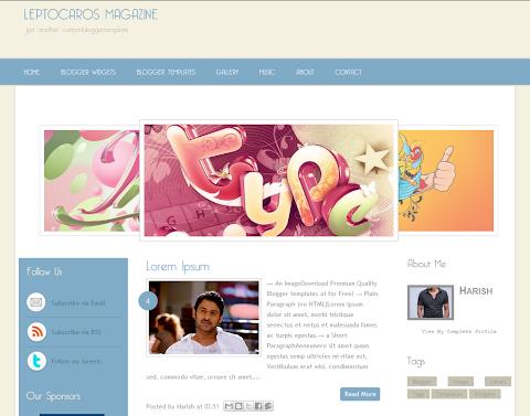Leptocaros Blogger Theme