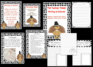 http://www.teacherspayteachers.com/Product/The-Turkey-Times-Writing-to-Inform-Thanksgiving-Activity-967143