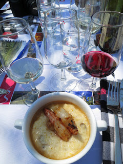 Creole Shrimp and handpicked Anson Mills Grits