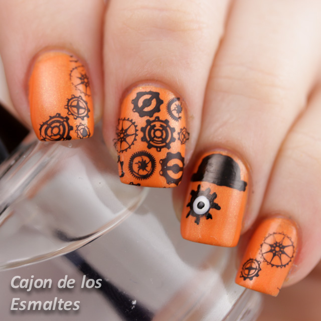 A clockwork orange nail art