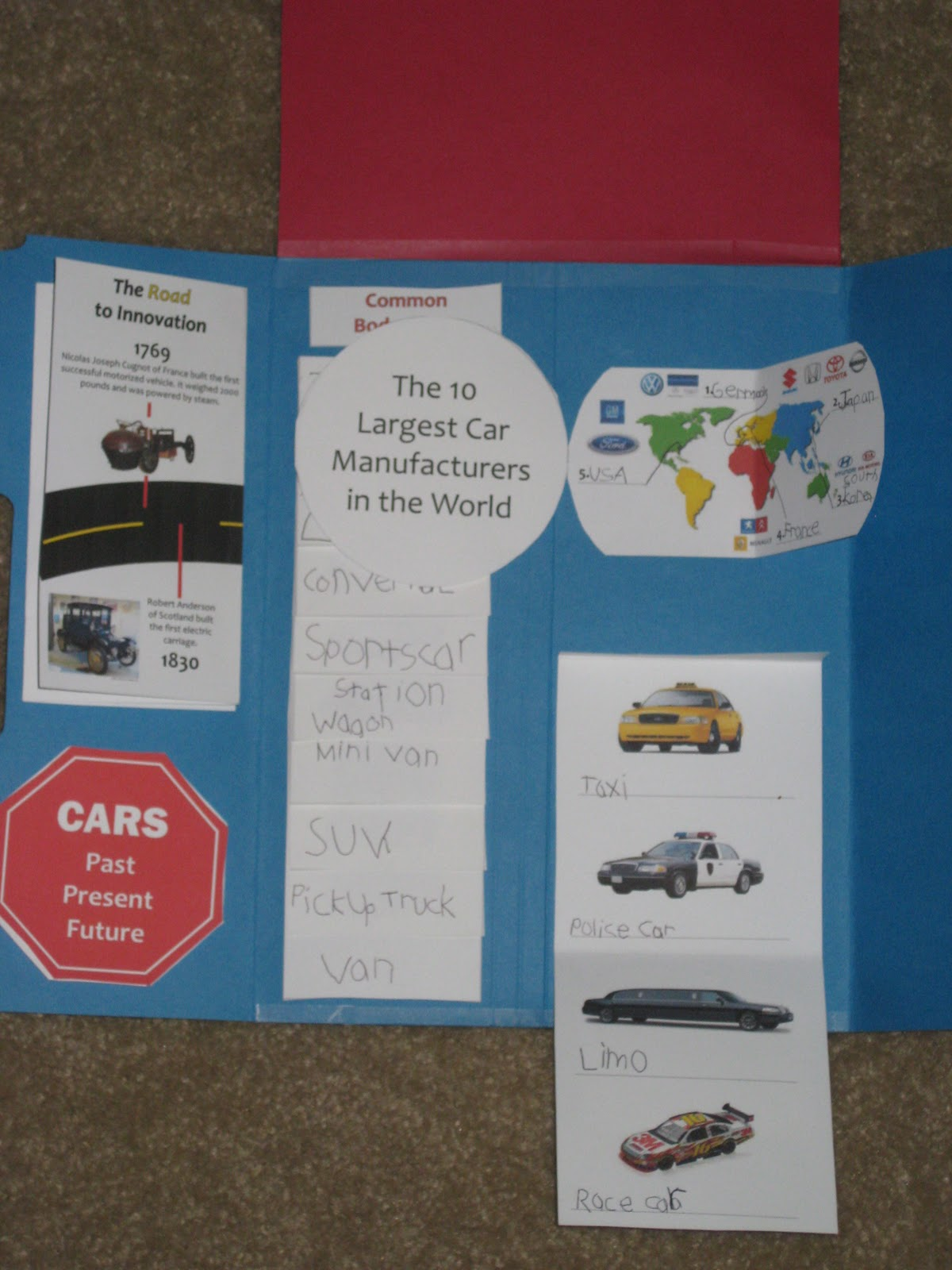 Homeschooling in Heels: Crazy About Cars Lapbook